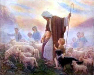 Image result for a sheep following Jesus